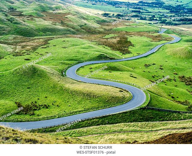 Great Britain, England, Derbyshire, Peak District, Castleton, Mam Tor