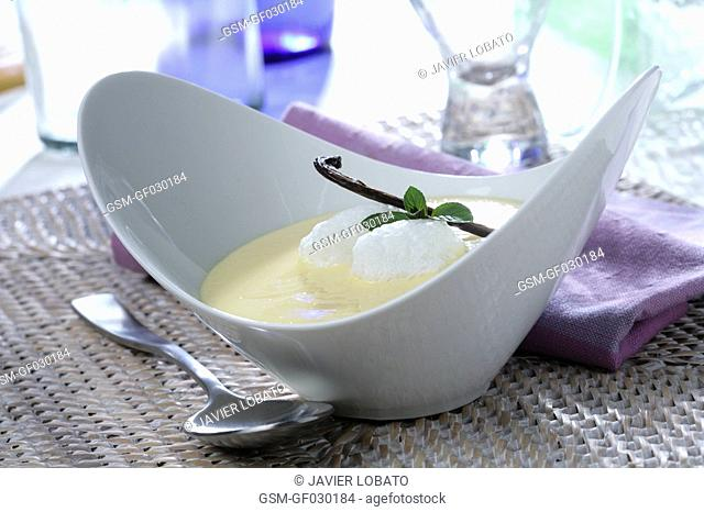 Aran Valley creamy dessert with whipped egg whites