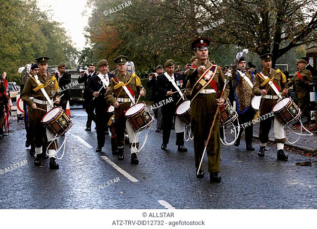 BRITISH ARMY MARCHING BAND; PICKERING, NORTH YORKSHIRE; 16/10/2010