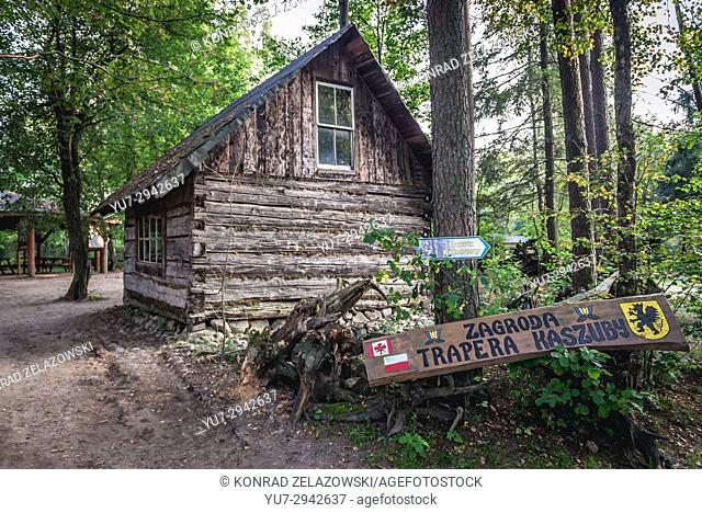 Canadian Trapper's cottage in Centre for Education and Regional Promotion in Szymbark village, Kashubia region of Pomeranian Voivodeship in Poland