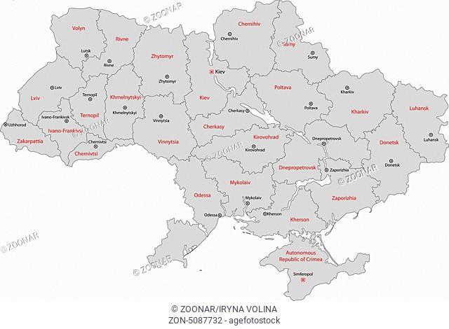 Grey Ukraine map