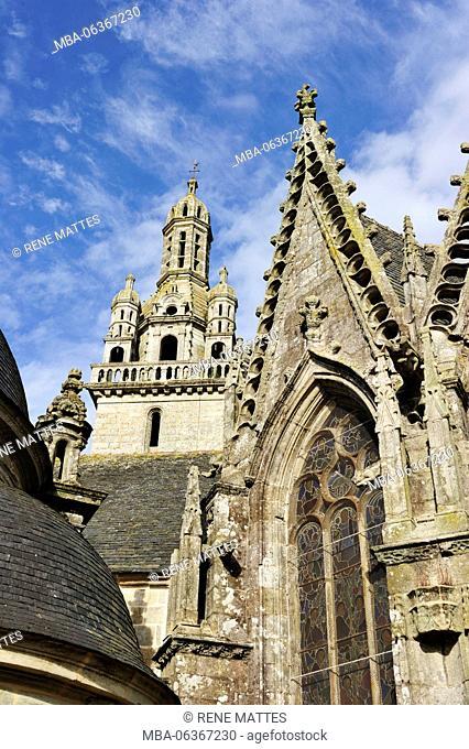 France, Finistere, Pleyben, church, parochial enclosure