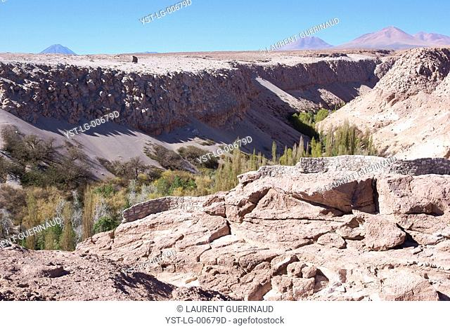 Broken of Jere, Worth of Jere, Poblado Toconao, Atacama Desert, Region of Antofagasta, Santiago, Chile
