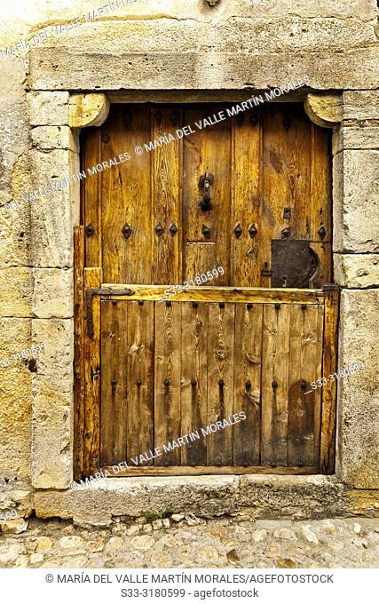 Wooden door in Calatañazor. Soria. Castilla León. Spain. Europe