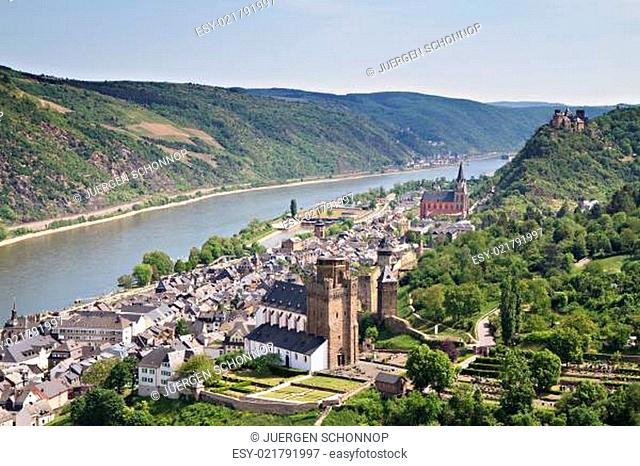 Cityscape of Bacharach in the Rhine valley