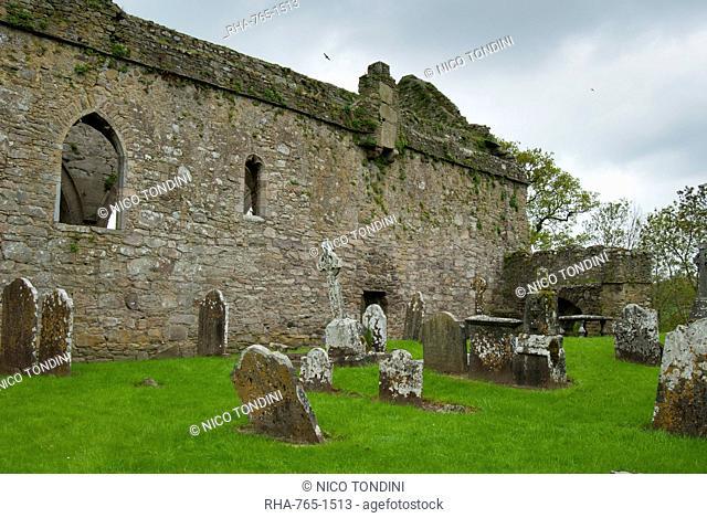 Jerpoint Abbey, County Kilkenny, Leinster, Republic of Ireland Eire, Europe