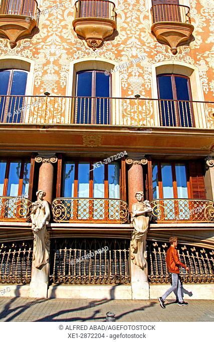 Casa Solà-Morales, arch. Lluis Domenech i Montaner, Olot, Catalonia, Spain