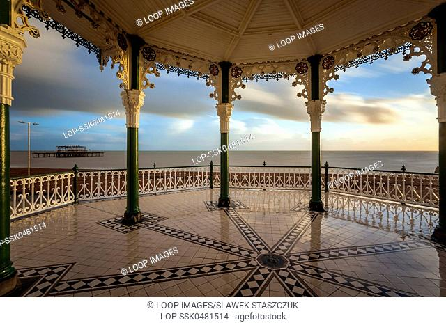 Autumn afternoon at Brighton bandstand