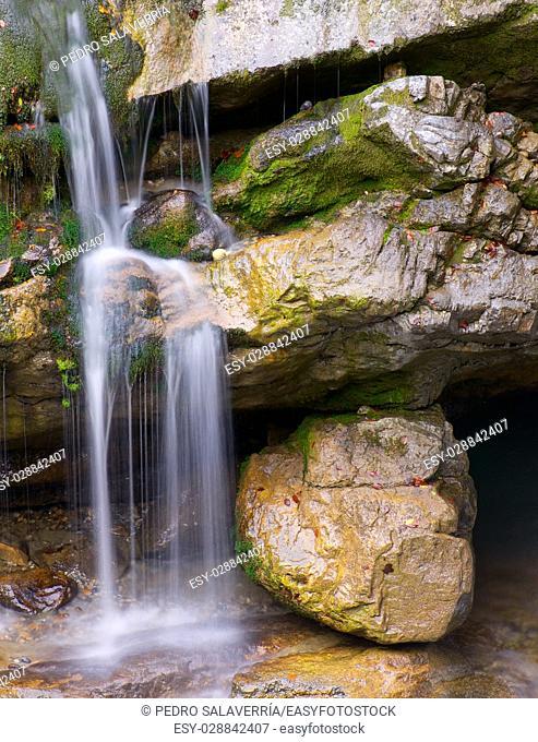 waterfal in Ordesa national Park, Pyrenees, Huesca, Aragon, Spain
