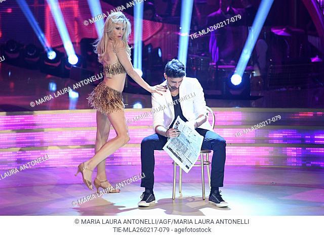 Xenya with Raimondo Todaro during the tv show Ballando con le stelle, Rome, ITALY-25-02-2017