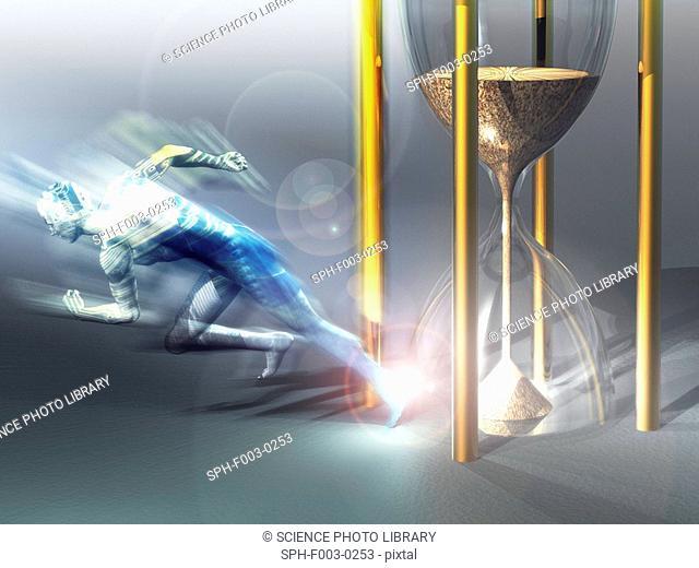 Time travel, conceptual artwork