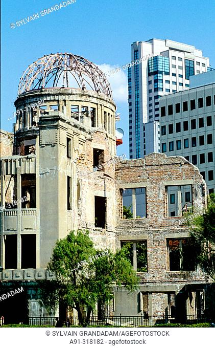 Remnants and ruins of the City of Hiroshima, destroyed by an American bomb in 1944. Japan