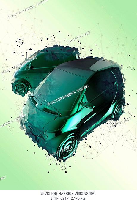 Electric cars, illustration