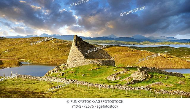 Pictures of Dun Carloway Broch on the Isle of Lewis in the Outer Hebrides; Scotland. Brochs are among Scotland's most impressive prehistoric buildings and were...