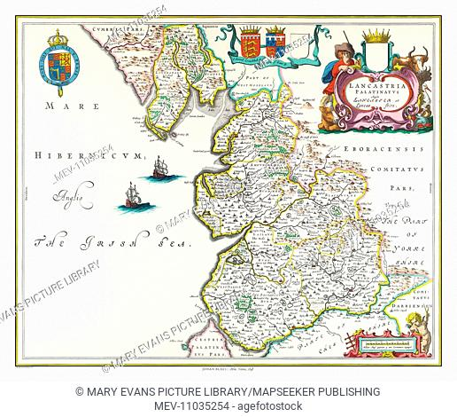 Map of Lancashire by Johan Bleau