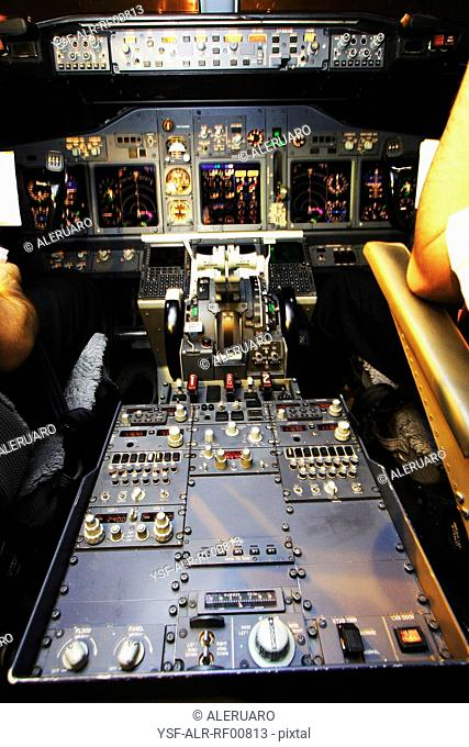 Cabin of the airplane, Brazil