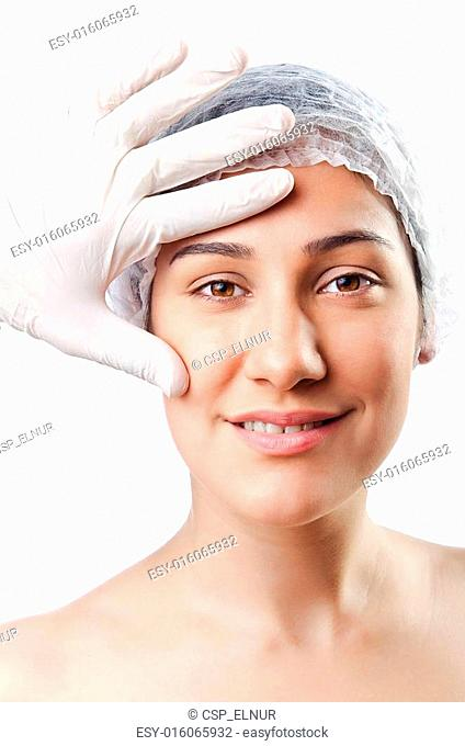 Woman under the plastic surgery