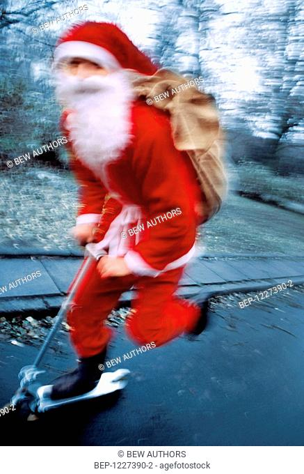 Santa claus on the street