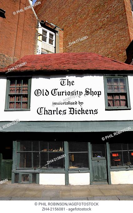 London, England, UK. The Old Curiosity Shop (13-14 Portsmouth St. WC2A 2ES) Claimed to be the inspiration for the Dickens novel