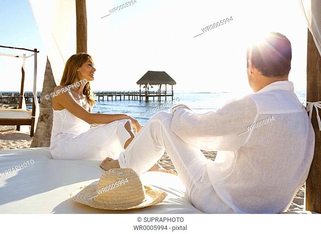 Couple relaxing holidays