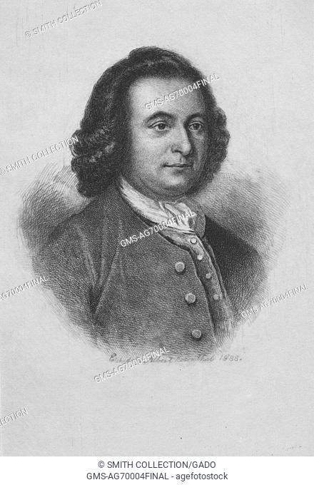 An engraving from a portrait of George Mason, an American planter and politician from Virginia. He was delegate to the Constitutional Convention and one of only...