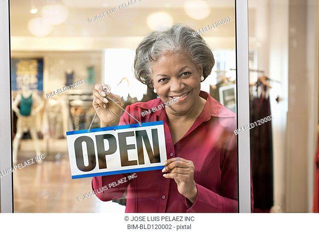 Black woman opening store