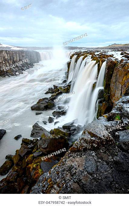 Famous Selfoss waterfall, Jokulsargljufur National Park, Iceland