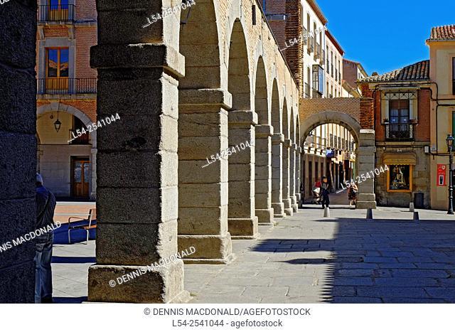 Arches Plaza de la Victoria Avila Spain Castile-Léon Medieval