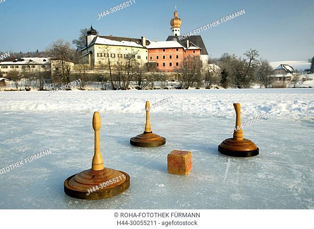 Bayern, Oberbayern, Berchtesgadener Land, Rupertiwinkel, Anger, Höglwörth, Hoeglwoerth, Höglwörther See, Hoeglwoerther See, See, Winter, Schnee, Eis, kalt