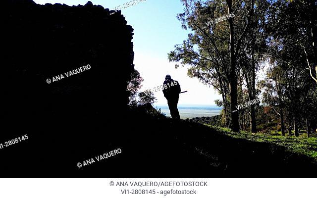 Puerto castle ruins, Sierra de Fuentes, Extremadura, Spain