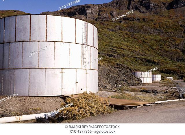 Tanks in Narsarsuaq, South Greenland