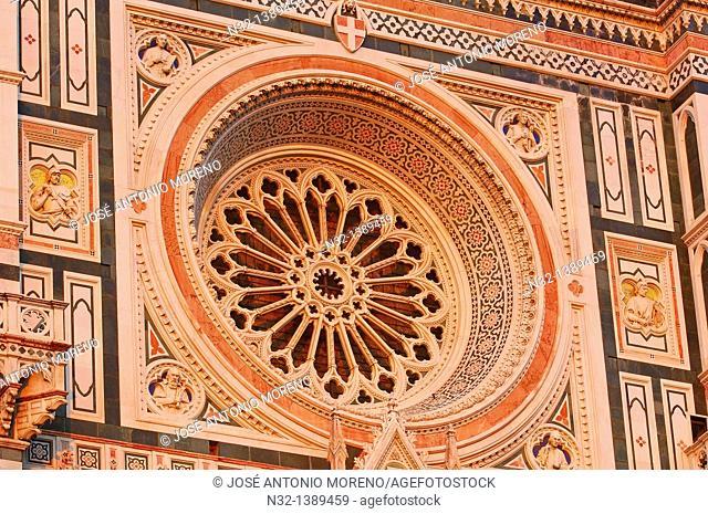Florence, Duomo, Cathedral, Santa Maria del Fiore cathedral, Piazza del Duomo, Duomo square, Tuscany, Italy