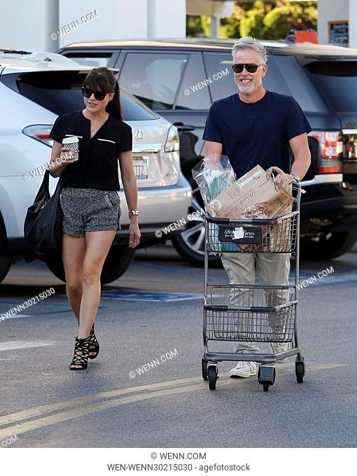 Selma Blair leaving Bristol Farms after shopping for groceries with a male companion in Beverly Hills Featuring: Selma Blair Where: Palms Springs, California