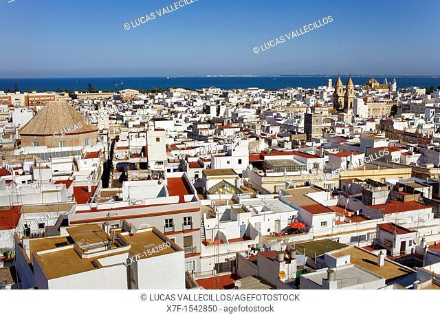 Skyline of Cádiz, Cádiz, Andalusia, Spain