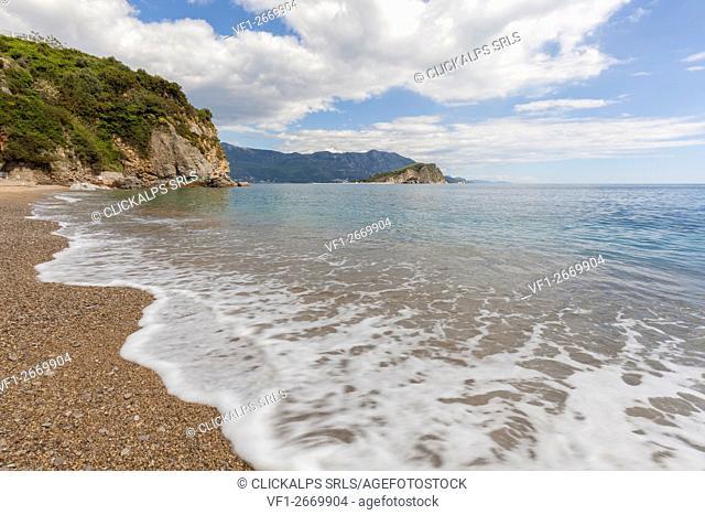 Mogren beach, near Budva, Montenegro