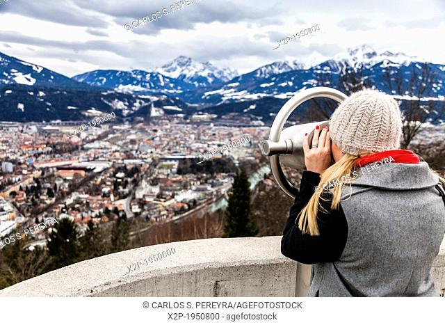 Panoramic of Innsbruck from Nordkette, Tyrol, Austria, Europe