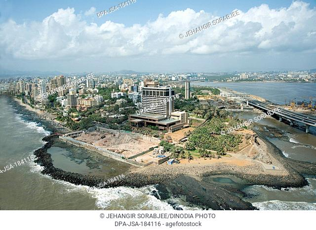 aerial view of searock hotel bandra at mumbai maharashtra India