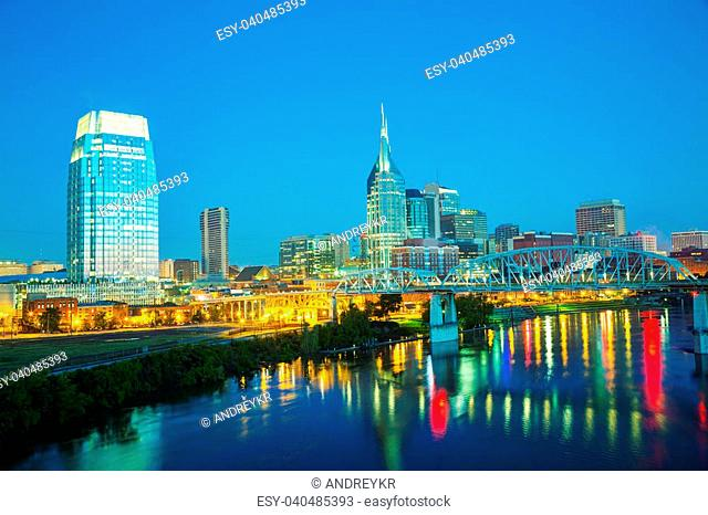 Downtown Nashville early in the morning