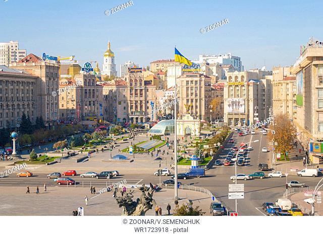 KYIV, UKRAINE - October 22: Independence Square -