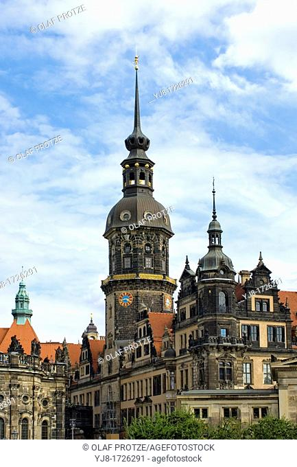 Dresden castle, a landmark in the old town of Dresden, Saxony, Germany