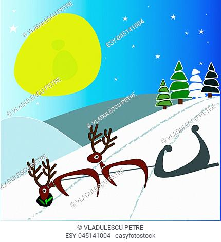 morning, reindeer sleigh was returned without Santa Claus