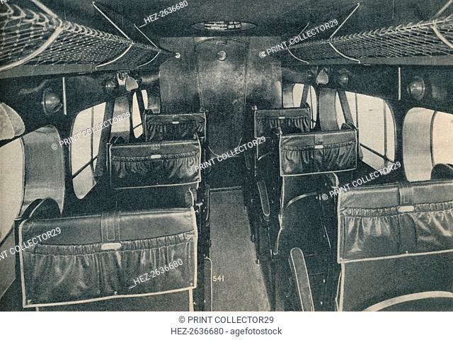 Cabin of a De Havilland DH86B biplane, c1934 (c1937). Artist: Unknown