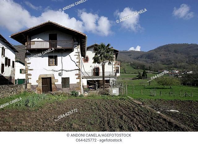 Country house. Narbarte. País del Bidasoa. Bidasoa-Baztán. Navarra. Spain