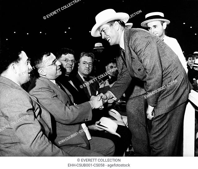 Two prominent citizens were at the ringside in the Cleveland Stadium. Gene Tunney, the retired undefeated heavyweight champion and Mayor Anton J