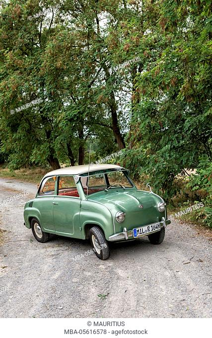 Elsenfeld, Bavaria, Germany, Goggomobil T. 250, year of manufacture 1965, cubic capacity 250 cubic centimetres, 13.6 HP, manufacturer Hans Glas GmbH in...