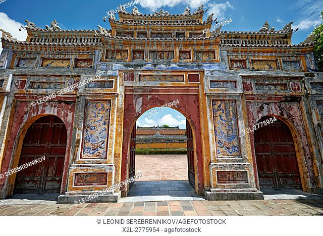 Gate to the Dien Tho Residence. Imperial City (The Citadel), Hue, Vietnam