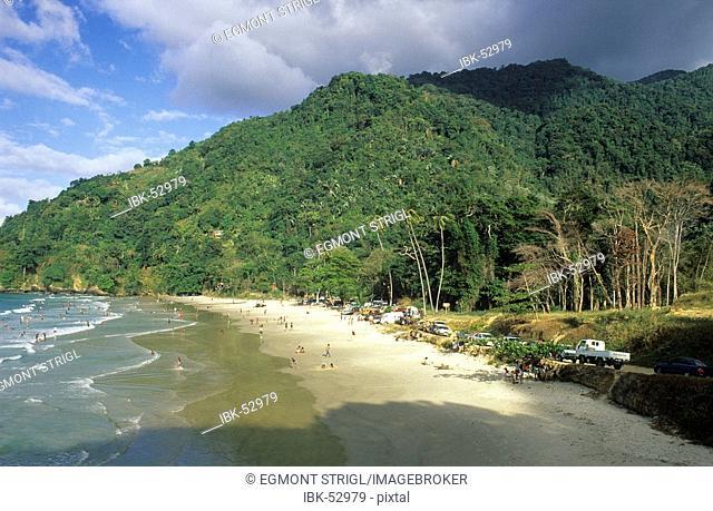Beach at Las Cuevas Bay, Trinidad & Tobago