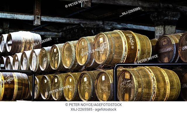 Hennessy ageing warehouse where the eaux-de-vie are stored in oak barrels to mature before blending