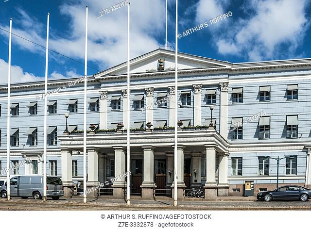 Helsinki City Hall, Kruununhaka district, South Harbour and Market Square complex. Helsinki, Finland, Europe