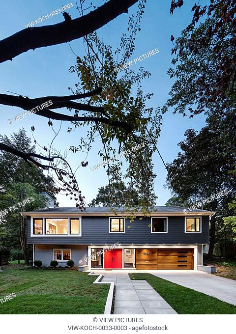 Modern renovation of a home located in Somerset, a small community within Chevy Chase, a neighborhood bordering Washington, DC